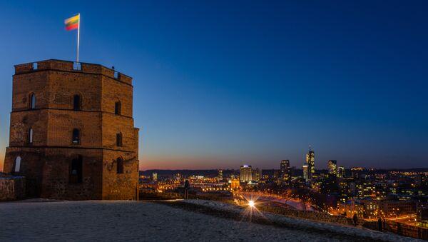 Vilnius castle tower at night. (File) - Sputnik International