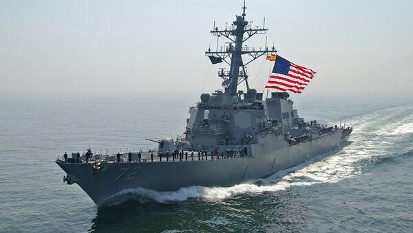 US Navy destroyer Mahan - Sputnik International