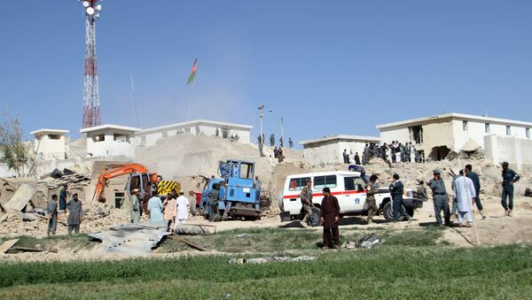 Afghan security forces work at the site of a bombing in Kandahar (File) - Sputnik International