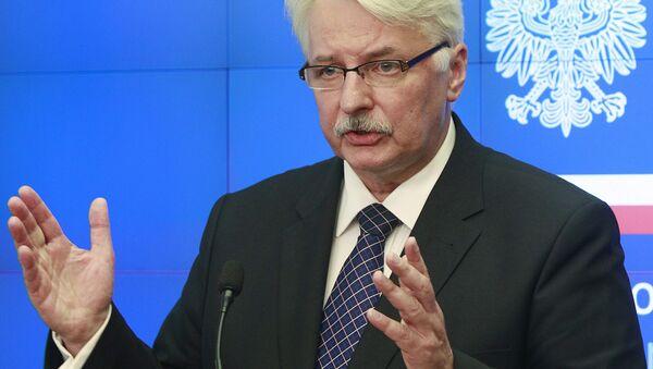 Head of the Polish Ministry of Foreign Affairs Witold Waszczykowski (File) - Sputnik International