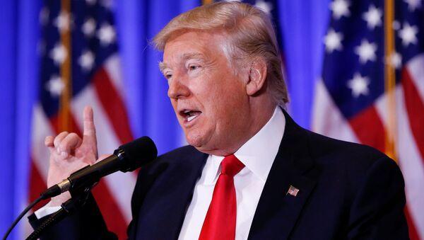 U.S. President-elect Donald Trump speaks during a press conference in Trump Tower, Manhattan, New York, U.S., January 11, 2017 - Sputnik International