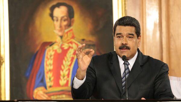 Venezuela's President Nicolas Maduro speaks during a meeting with businessmen in Caracas, Venezuela January 9, 2017 - Sputnik International