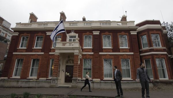 Israel's embassy in Britain is seen in central London, Tuesday March 23, 2010 - Sputnik International
