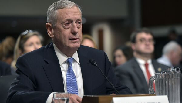 Retired Marine Corps general James Mattis testifies before the Senate Armed Services Committee on his nomination to be the next secretary of defense in the Dirksen Senate Office Building on Capitol Hill in Washington, DC on January 12, 2017 - Sputnik International