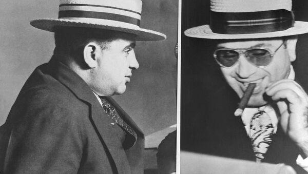 Famous Italian born US gangster Al Capone (1899-1947) is shown in portrait taken the day he was released from the Alcatraz prison, San Francisco, California, in 1939. He died in Florida 25 Januar 1947. - Sputnik International