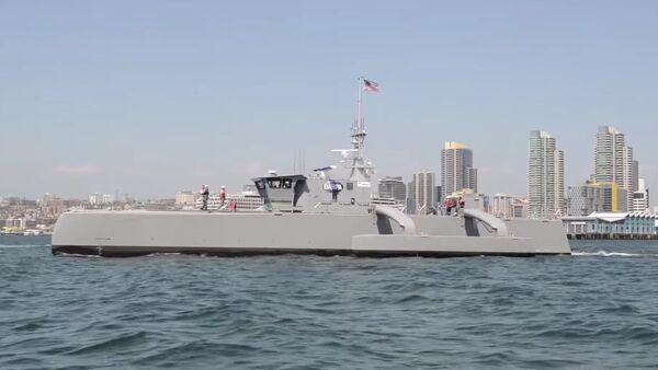 DARPA's Sea Hunter Submarine-Hunting Drone Warship ACTUV - Sputnik International