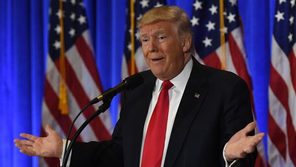 US President-elect Donald Trump speaks during a press conference January 11, 2017 at Trump Tower in New York - Sputnik International