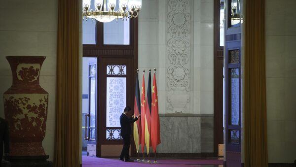 Flags of Germany and China. (File) - Sputnik International