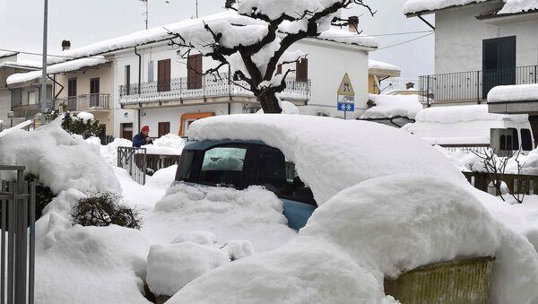 Snow in Italy - Sputnik International