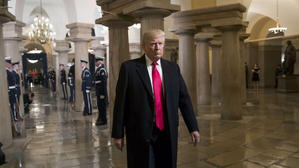 President-elect Donald Trump walks to his swearing-in ceremony at the Capitol in Washington, D.C., U.S. January 20, 2017 - Sputnik International