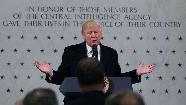 U.S. President Donald Trump delivers remarks during a visit to the Central Intelligence Agency (CIA) in Langley, Virginia U.S. January 21, 2017 - Sputnik International