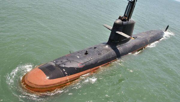 INS Kalvari at Sea trials - Sputnik International