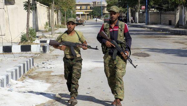 Free Syrian Army fighters patrol in Jarablus, Syria. (File) - Sputnik International