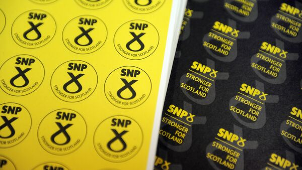 Memorabilia is on sale at a stand at the Scottish National Party (SNP) Conference in Glasgow, Scotland. (File) - Sputnik International