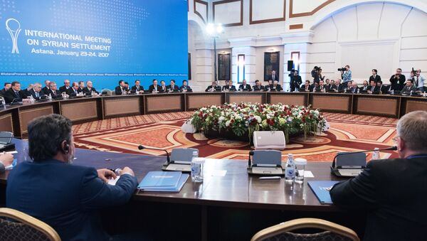 Participants in a meeting on Syria in Astana - Sputnik International