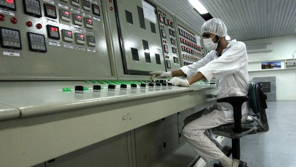 In this Saturday, Feb. 3, 2007 file photo, an Iranian technician works at the Uranium Conversion Facility just outside the city of Isfahan 255 miles (410 kilometers) south of the capital Tehran, Iran - Sputnik International