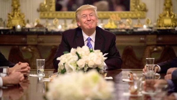 US President Donald Trump during a reception with Congressional leaders on January 23, 2017 at the White House in Washington, DC. - Sputnik International