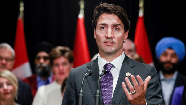 Canada's Prime Minister Justin Trudeau speaks to the media at the end of a two-day cabinet retreat in Calgary, Alberta, Canada January 24, 2017 - Sputnik International