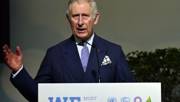 Britain's Prince Charles, The Prince of Wales delivers a speech on Forests as part of the United Nations conference on climate change COP21, on December 1, 2015 at Le Bourget, on the outskirts of the French capital Paris - Sputnik International