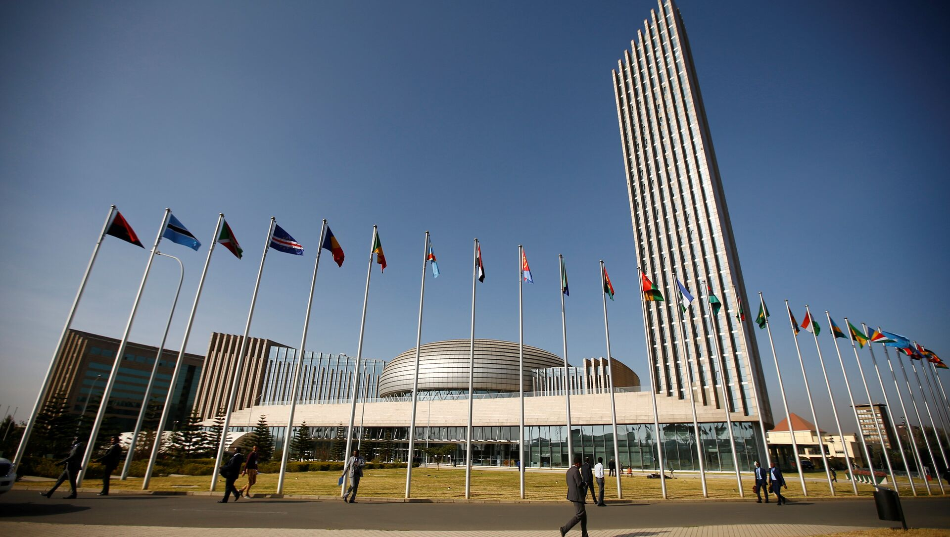 A general view shows the headquarters of the African Union (AU) building in Ethiopia's capital Addis Ababa, January 29, 2017 - Sputnik International, 1920, 23.07.2021