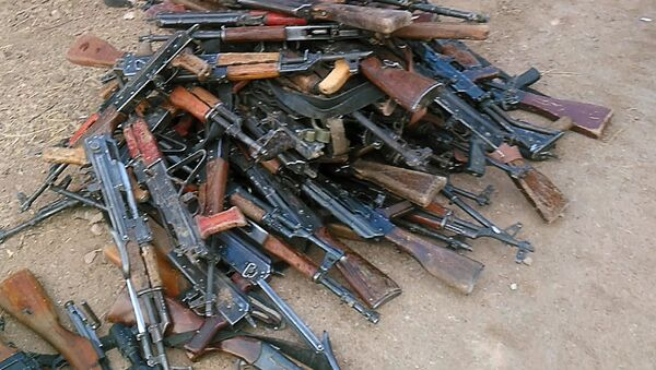Weapon and ammunition Syrian insurgents surrendered to the government troops. File photo - Sputnik International