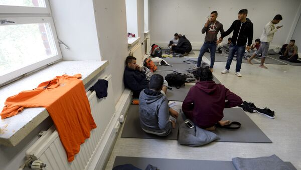 Iraqi migrants are pictured inside a refugee center located in former barracks, in Lahti, Finland (Photo used for illustration purpose) - Sputnik International