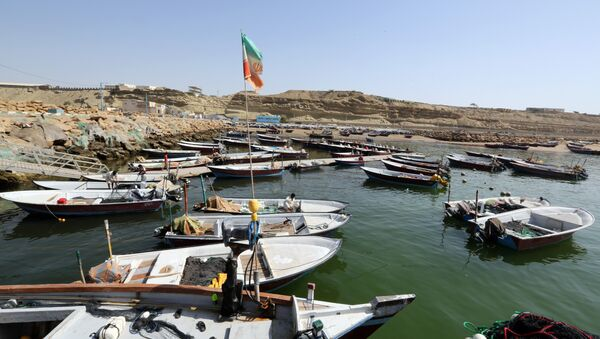 Fishing boats are moored in the southern Iranian port city of Chabahar - Sputnik International