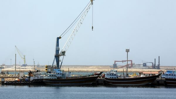A partial view of the Kalantari port in city of Chabahar - Sputnik International