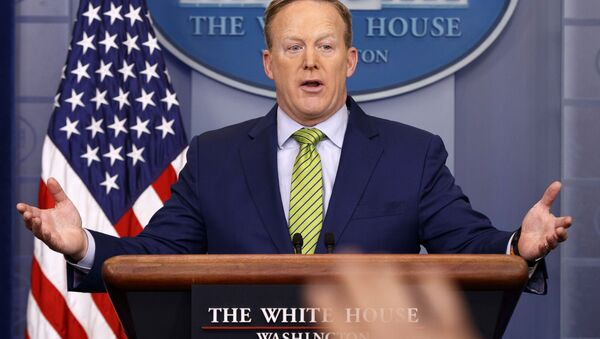 White House press secretary Sean Spicer speaks during the daily press briefing in the briefing room of the White House in Washington - Sputnik International