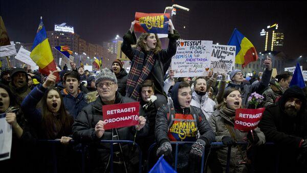 Anti-government protests in Bucharest - Sputnik International