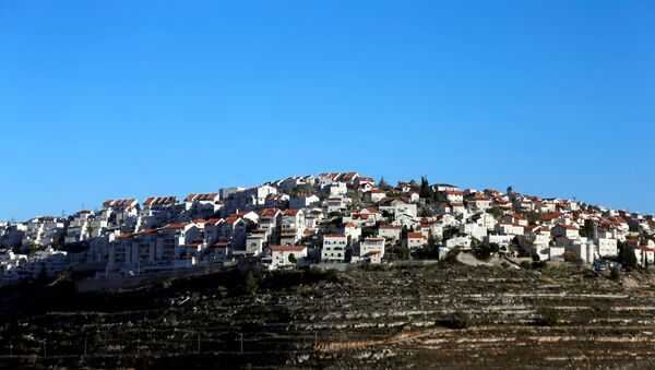 Houses are seen atop a hill in the Israeli settlement of Givat Ze'ev, in the occupied West Bank February 7, 2017 - Sputnik International