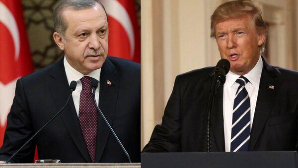 Turkish President Erdogan and US President Trump - Sputnik International
