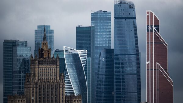 The Foreign Ministry and the Moscow City International Business Center, back, in Moscow. (File) - Sputnik International