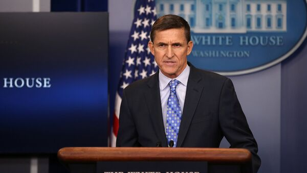 National security adviser General Michael Flynn delivers a statement daily briefing at the White House in Washington U.S., February 1, 2017 - Sputnik International