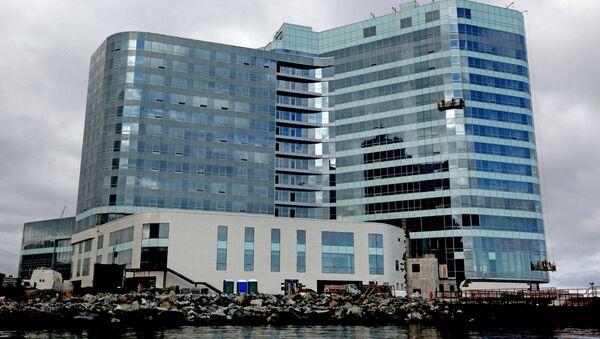 The Hyatt Regency Vladivostok five-star hotel under construction on the Burny cape in Vladivostok. (File) - Sputnik International