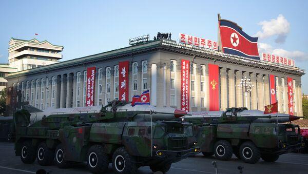 Medium range Nodong ballistic missiles are paraded in Pyongyang, North Korea (File) - Sputnik International