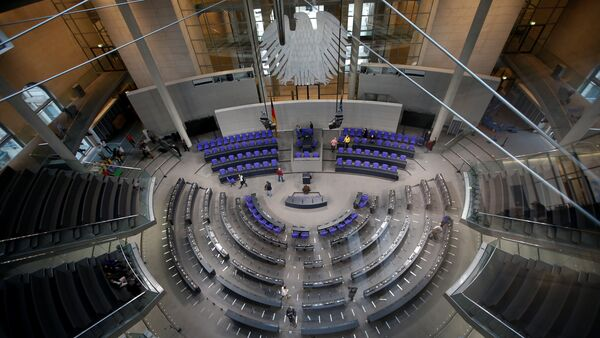 The plenary hall of the German lower house of Parliament Bundestag is pictured in preparation for the upcoming presidential elections during the Federal Assembly in Berlin, Germany - Sputnik International