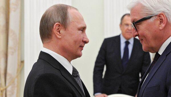 A meeting between Russian President Vladimir Putin and German Minister for Foreign Affairs Frank-Walter Steinmeier, March 23, 2016. - Sputnik International