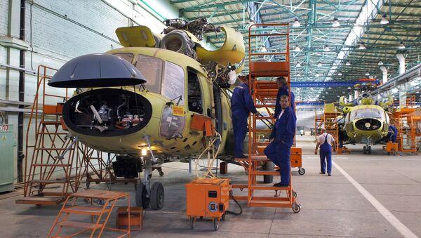 The assembly hall at Kazan Helicopter Plant, Kazan - Sputnik International