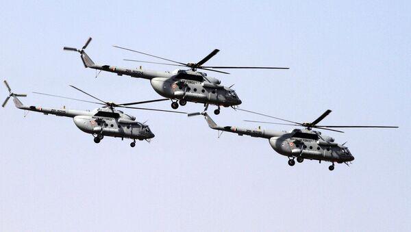 Indian Air Force's Mi- 17 V5 helicopters (File) - Sputnik International