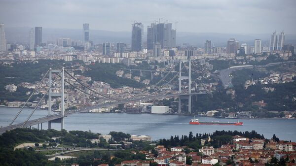 This Sunday, June 7, 2015 file photo shows a view of Istanbul with the Bosporus and the Bosporus Bridge in Turkey - Sputnik International