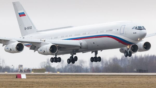 Ilyushin IL-96-400VVIP (ex. IL-96-400T Polet) converted into passenger version from cargo variant for Ministry of Defence - Sputnik International