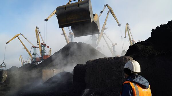 Coal unloaded at Odessa port. File photo - Sputnik International