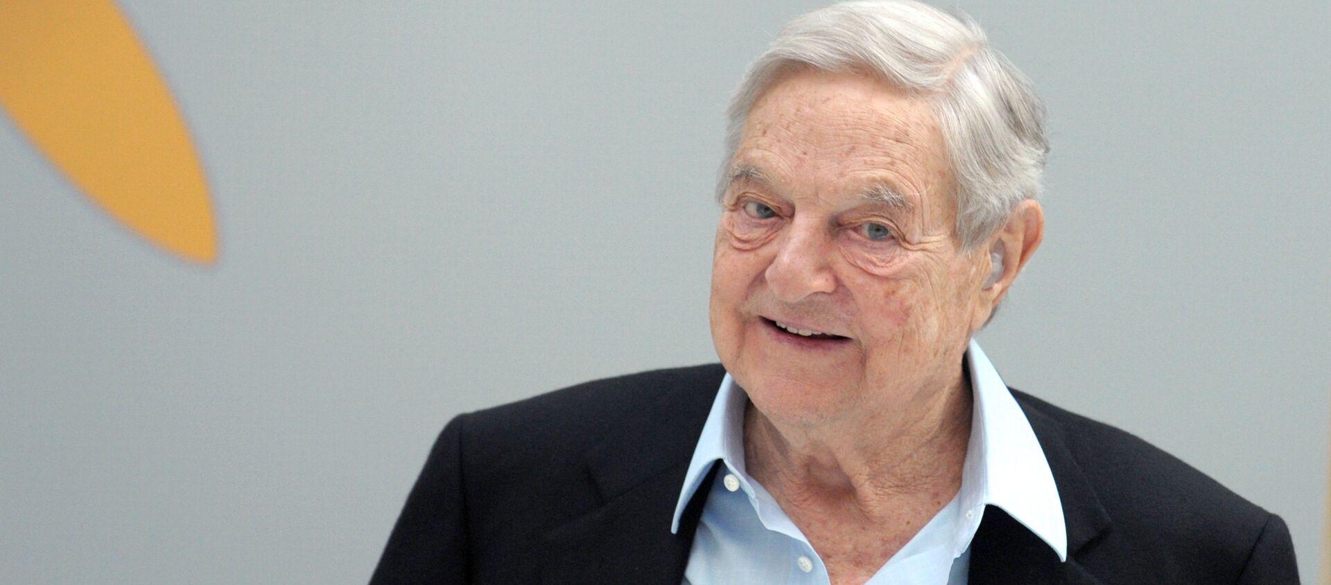 Hungarian-born US chairman of the Soros Fund Management, George Soros - Sputnik International, 1920, 23.07.2021