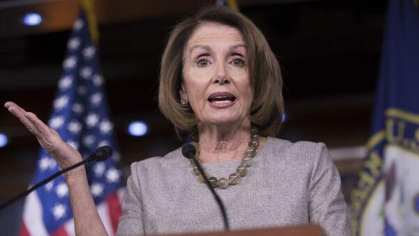 House Minority Leader Nancy Pelosi of Calif. speaks during a news conference on Capitol Hill in Washington - Sputnik International