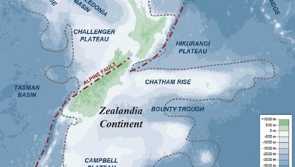 Map of southern part of Zealandia - Sputnik International