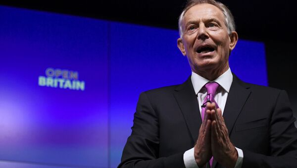 Former British Prime Minister Tony Blair delivers a keynote speech at a pro-Europe event in London, Britain, February 17, 2017. - Sputnik International
