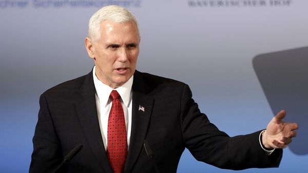 United States Vice President Mike Pence speaks during the Munich Security Conference in Munich, Germany - Sputnik International
