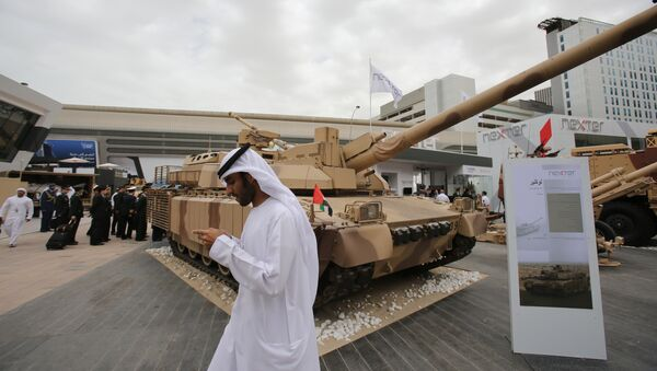 Emirati and other officials visit the International Defence Exhibition and Conference, IDEX, in Abu Dhabi, United Arab Emirates, Sunday, Feb. 22, 2015. - Sputnik International