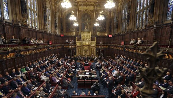 The House of Lords chamber in Parliament, London, Monday, Sept. 5, 2016. - Sputnik International
